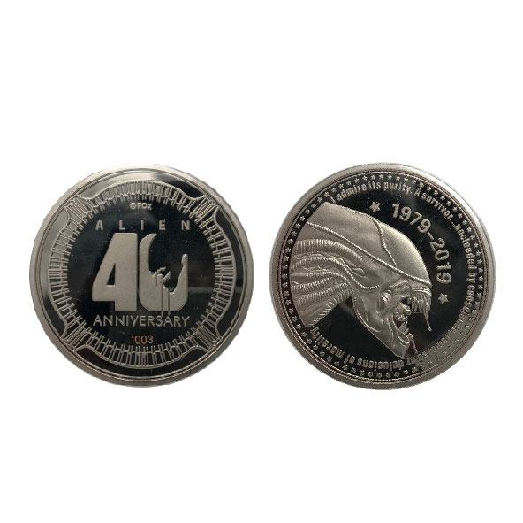 Alien Collectable Coin 40th Anniversary Silver Edition