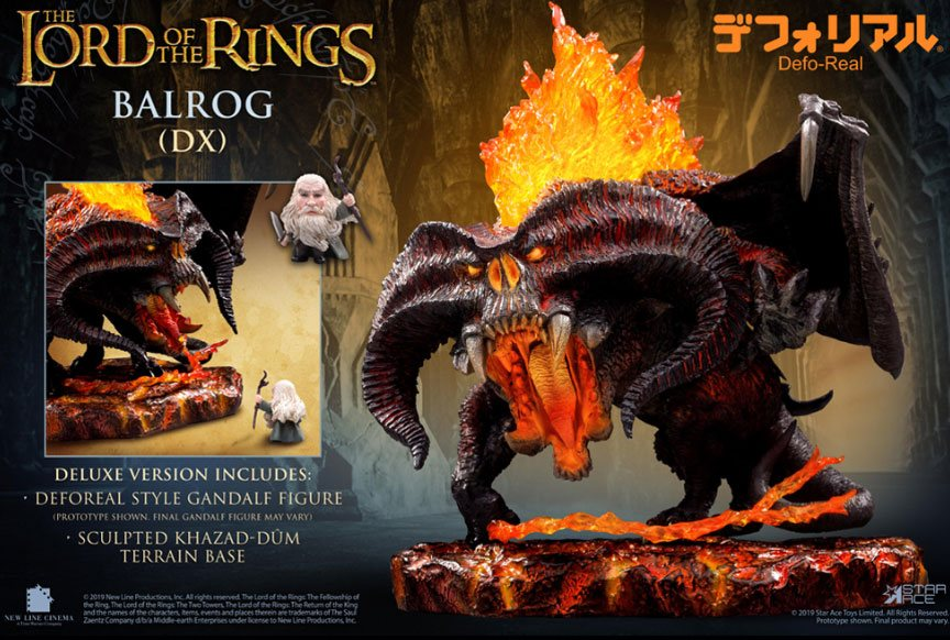Lord of the Rings Defo-Real Series Soft Vinyl Figure Balrog Deluxe Version
