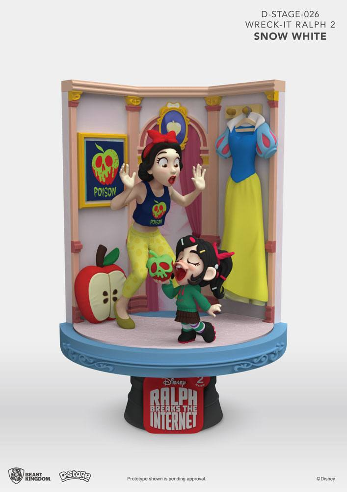 Ralph Breaks the Internet D-Stage PVC Diorama Snow White & Vanellope 15 cm