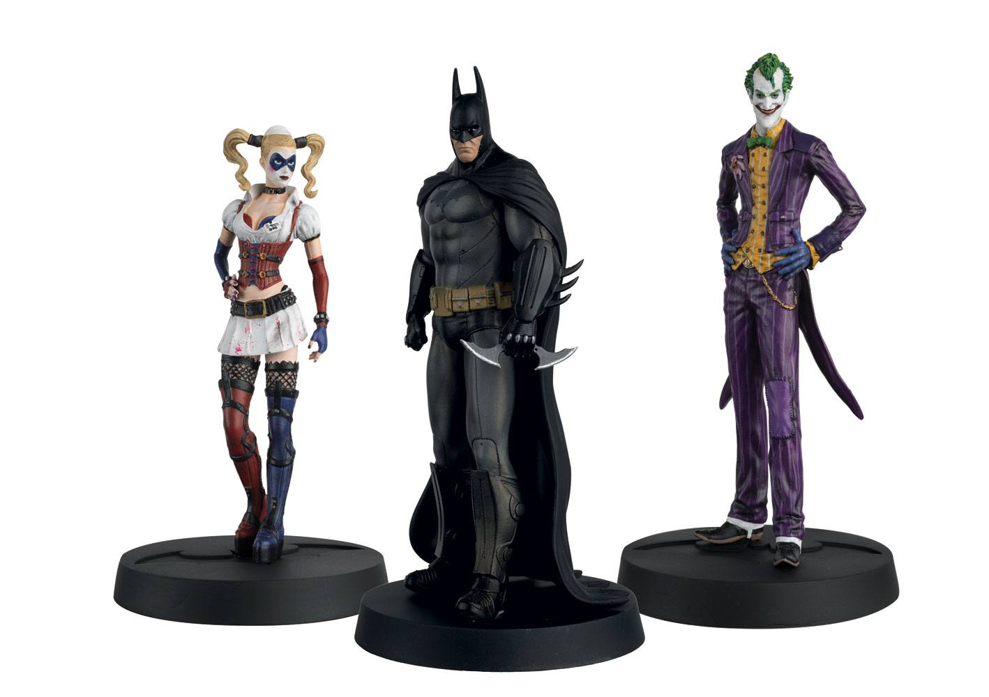 Batman Askham Asylum Hero Collection Statues 1/16 3-Pack 10th Anniversary