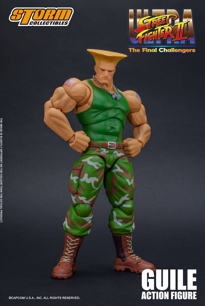 Ultra Street Fighter II: The Final Challengers A. Figure 1/12 Guile 16 cm