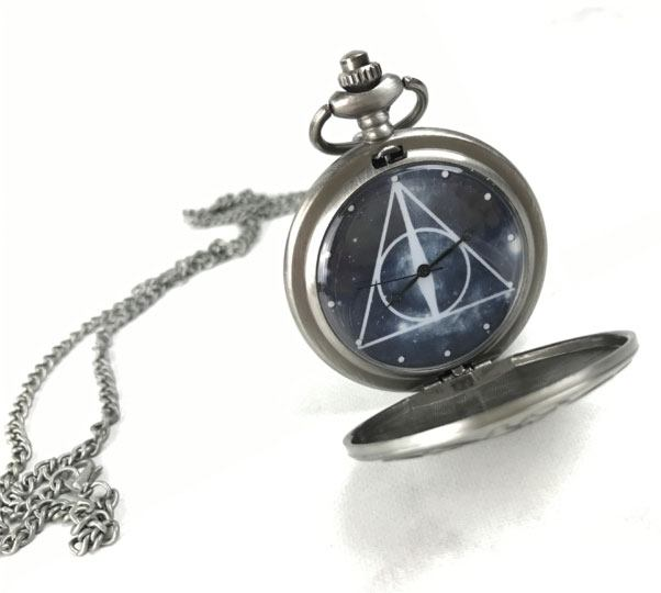 Harry Potter Pocket Watch with Chain Deathly Hallows Lootcrate Exclusive