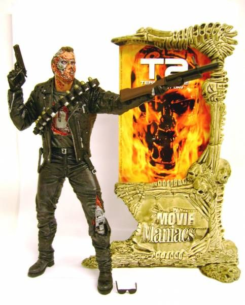 Action Figure Terminator 2 Judgment Day T-800 + Movie Poster Replica 18 cm