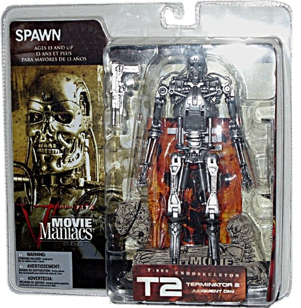 Action Figure Terminator 2 Judgment Day T-800 Endoskeleton + Poster 20 cm