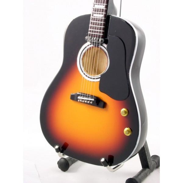 Mini Guitar Replica Beatles - John Lennon Acoustic Sunburnst 26 cm