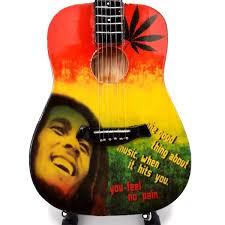 Mini Guitar Replica Bob Marley - Tribute One Love 26 cm