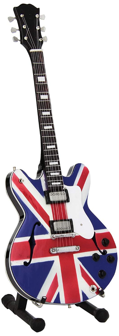 Mini Guitar Replica Oasis - Noel Gallagher Union Jack 26 cm
