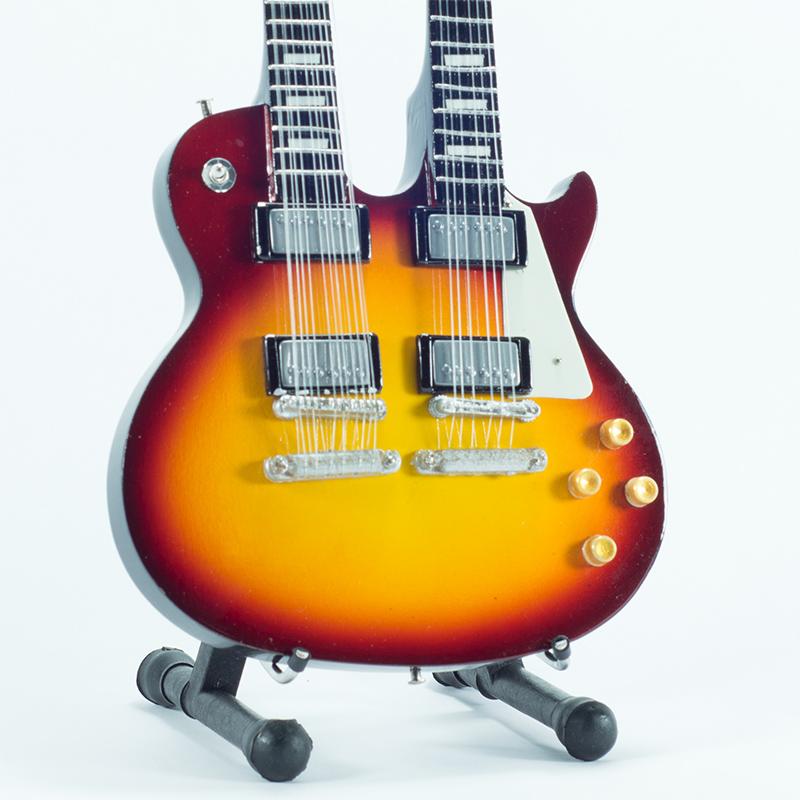 Mini Guitar Replica The Eagles - Don Felder D. Neck 26 cm
