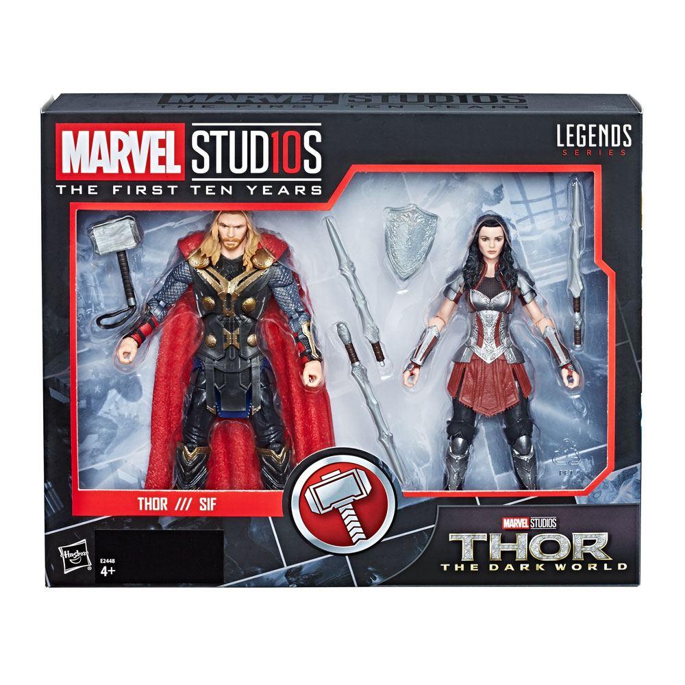 Thor: The Dark World Marvel Legends Series AF 2-Pack Thor & Sif 15 cm