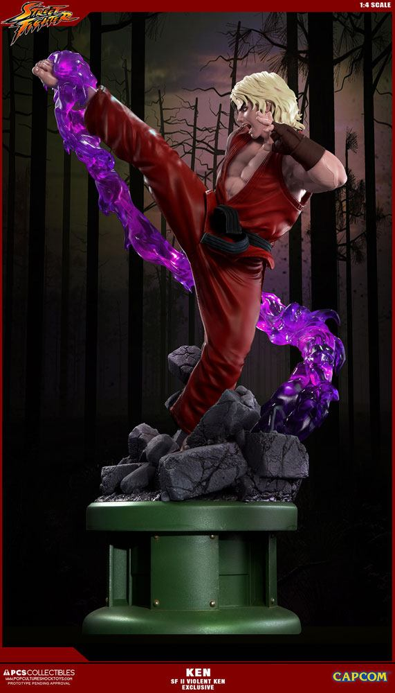 Ultra Street Fighter II Statue 1/4 Violent Ken Exclusive 63 cm