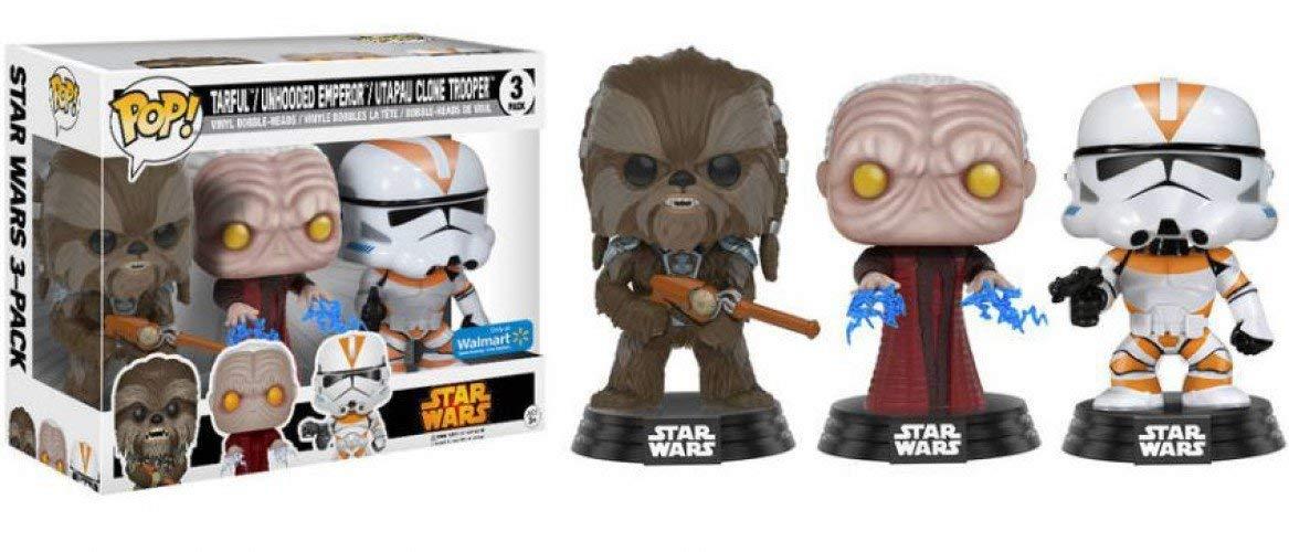 Star Wars POP! Tarfful, Unhooded Emperor & Utapau Clone Trooper Exclusive