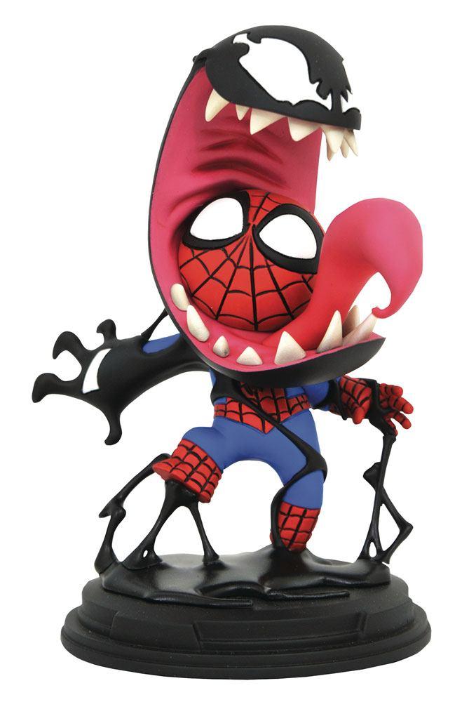 Marvel Comics Animated Series Mini-Statue Venom & Spider-Man 13 cm