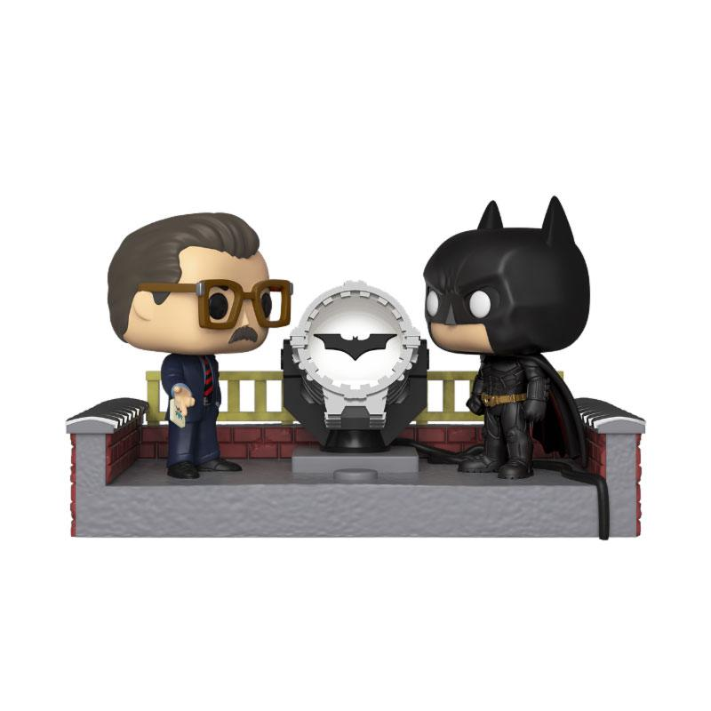 Batman's 80th POP! Movie Moment Batman with Light Up Bat Signal
