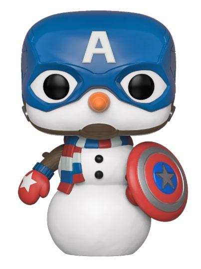 Marvel Holiday POP! Marvel Vinyl Figure Captain America 10 cm