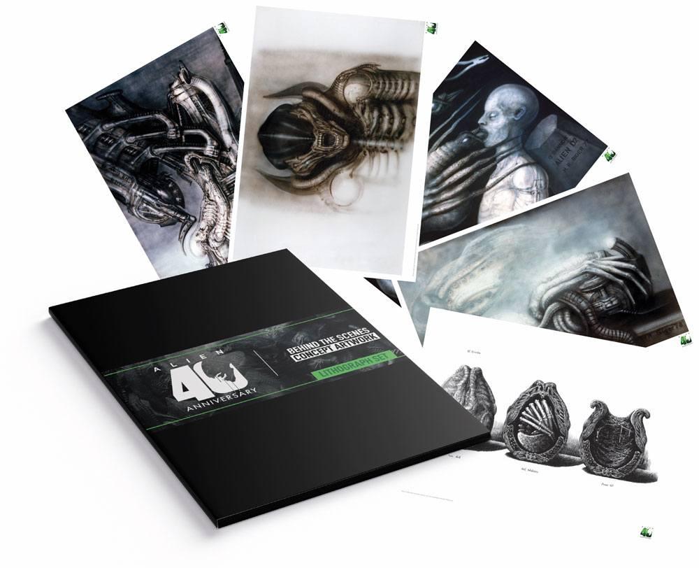 Alien Lithograph 5-Set 35 x 28 cm