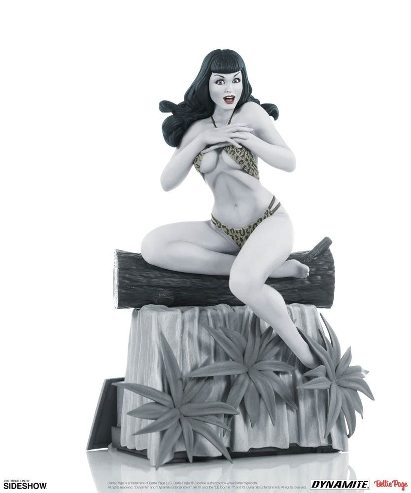 Women of Dynamite Statue Bettie Page (Black & White Edition) 24 cm