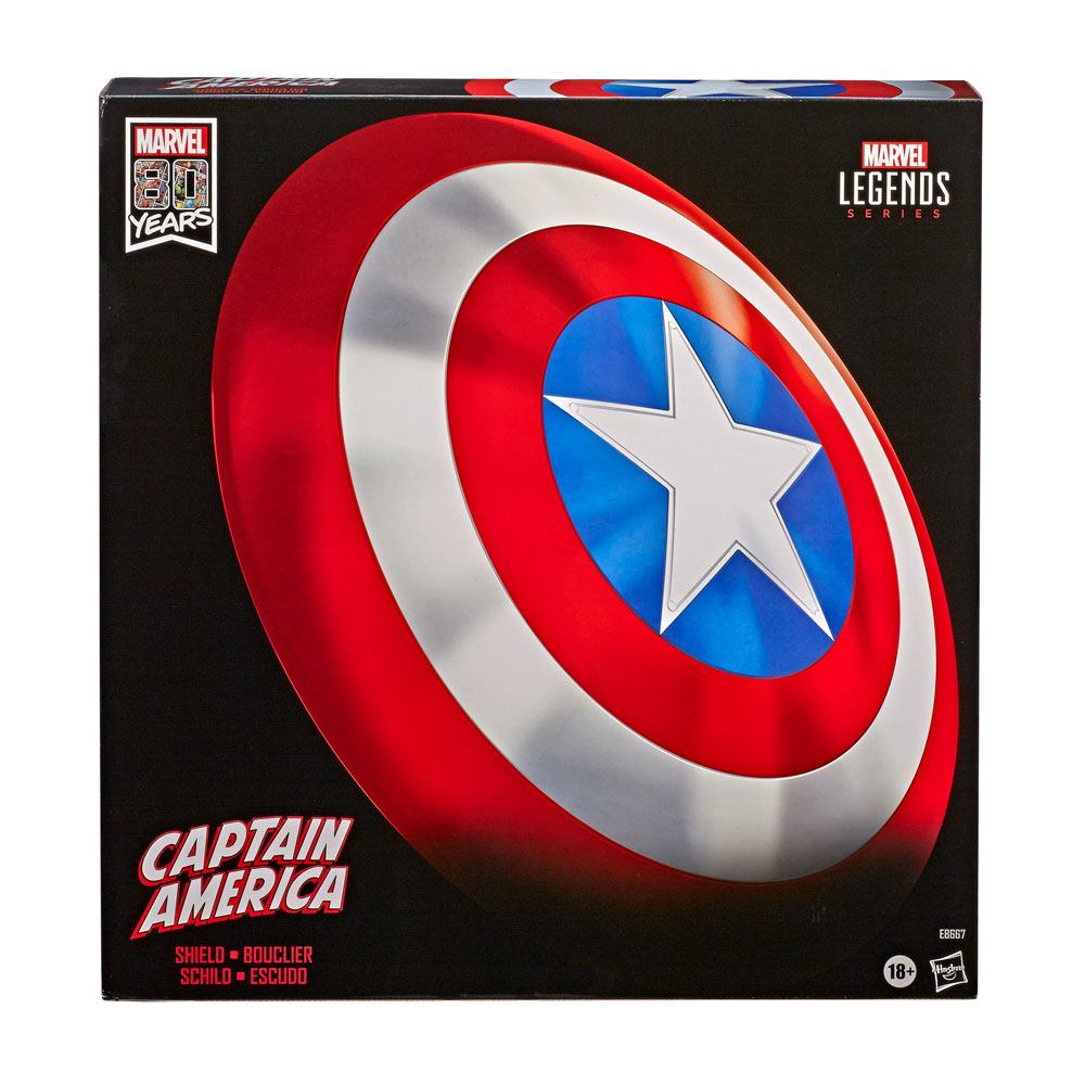 Marvel Legends Premium Role-Play Shield Captain America´s Shield 80th Anniv