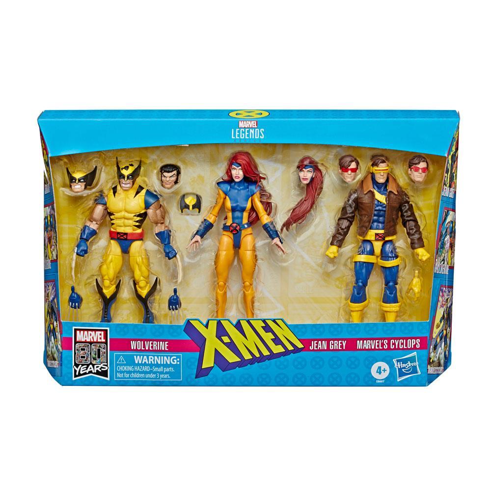 Marvel Legends 80th Anniversary 3-Pack X-Men Wolverine, Jean Grey & Cyclops