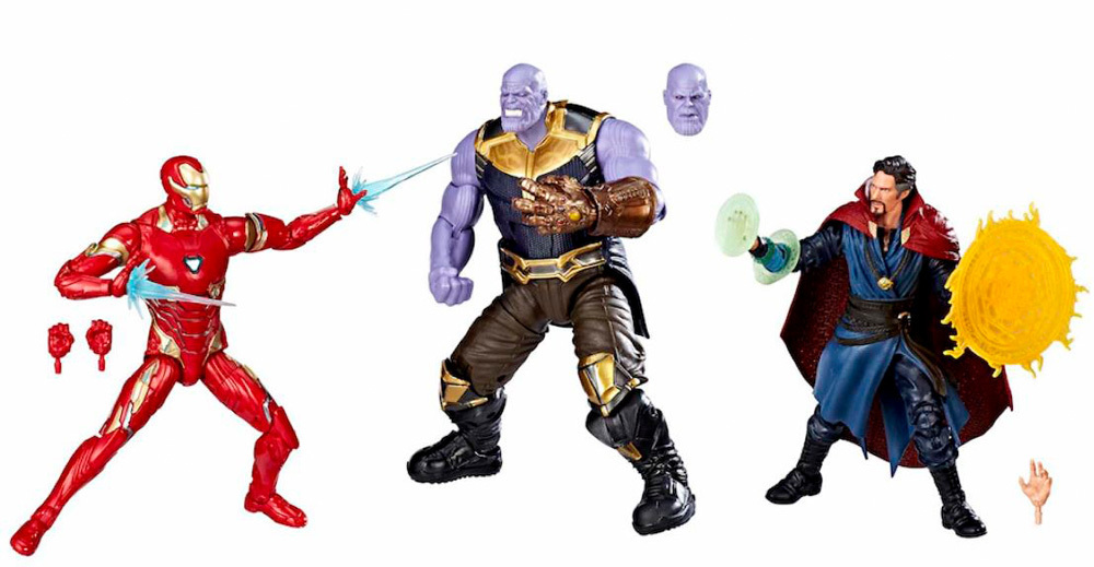 AF Marvel Legends Avengers - 10TH Aniv. Thanos & Iron Man & Dr. Strange