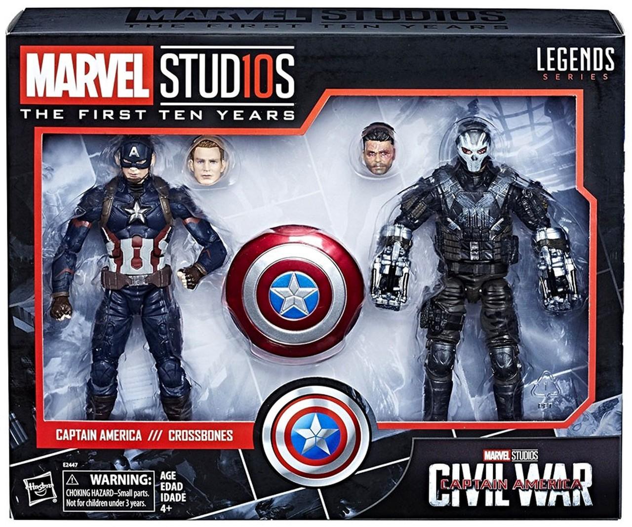 AF Marvel Legends Avengers - 10TH Aniv. Captain America & CrossBones 15 cm