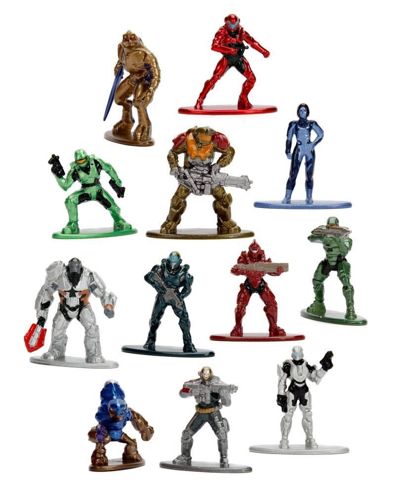 Halo Nano Metalfigs Diecast Mini Figure Blind Box 4 cm