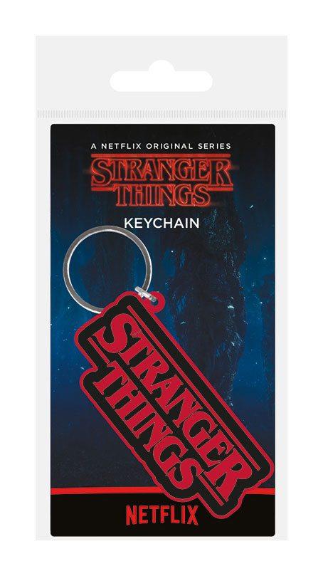 Stranger Things Rubber Keychain Logo 6 cm
