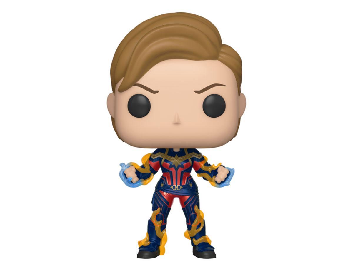 Avengers: Endgame POP! Movies Vinyl Figure Captain Marvel w/New Hair 10 cm