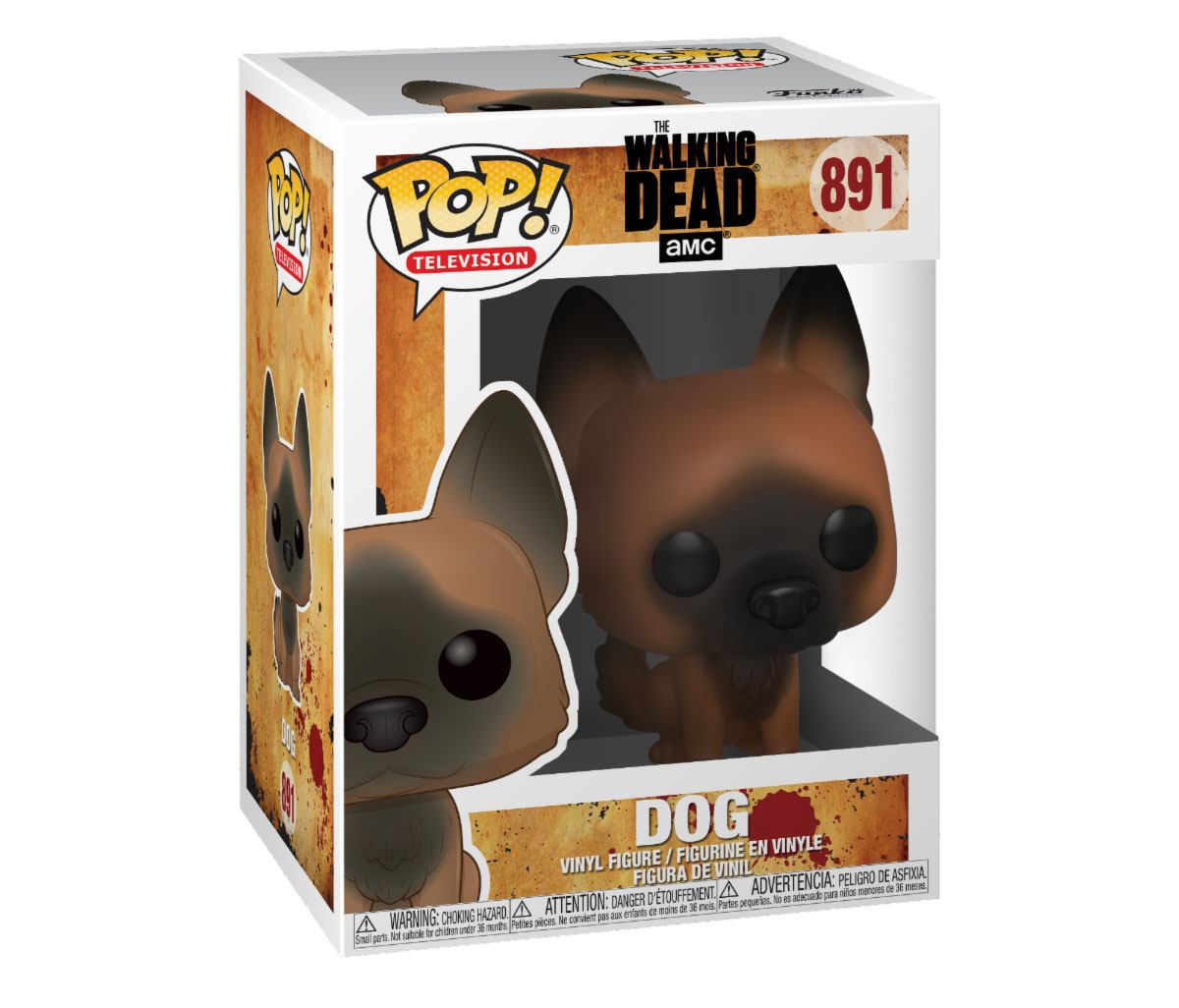 Walking Dead POP! Television Vinyl Figure Dog 10 cm