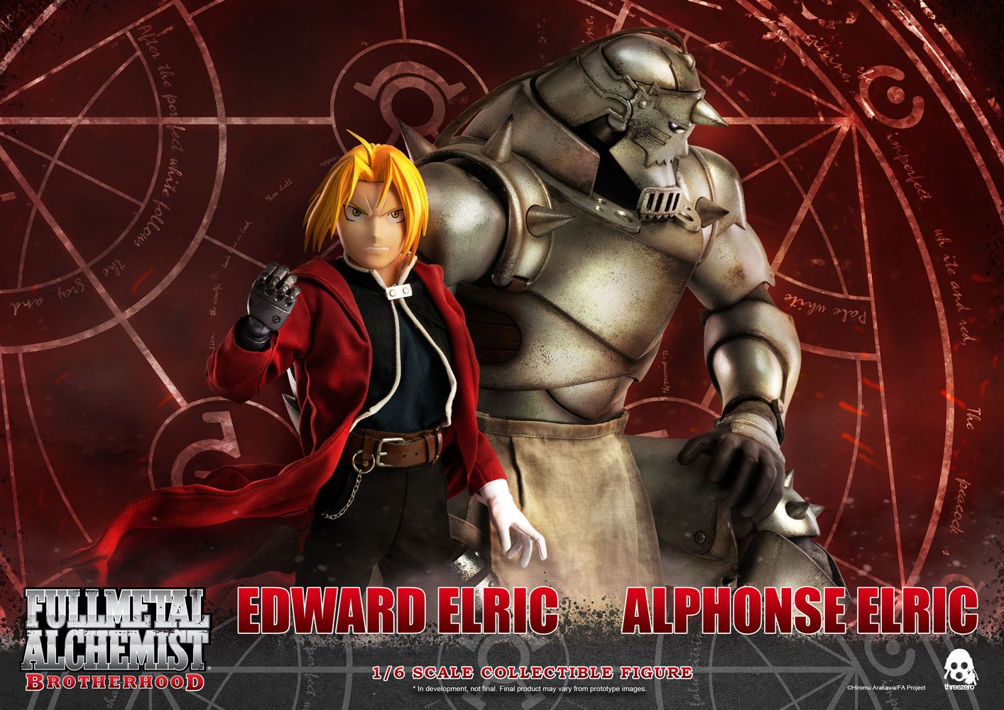Fullmetal Alchemist: Brotherhood Action Figure 2-Pack 1/6 Edward & Alphonse