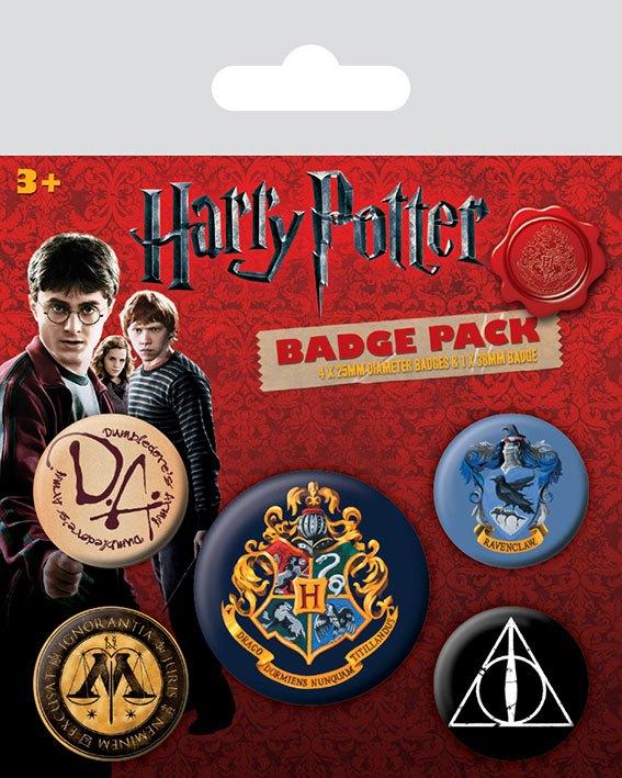 Conjunto de 5 Pins Harry Potter Hogwarts