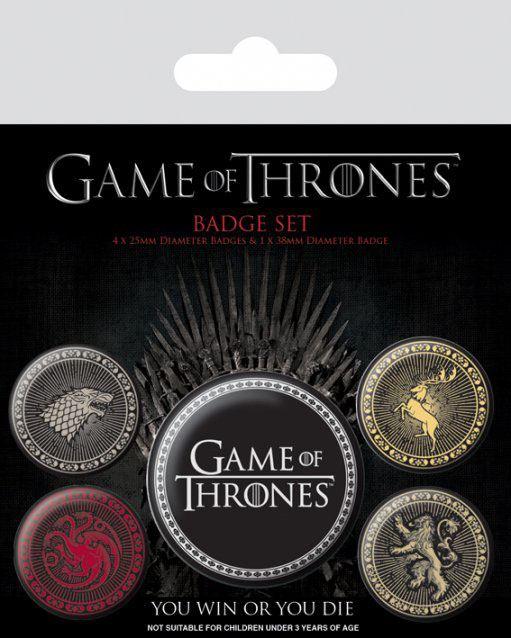 Conjunto de 5 Pins Game Of Thrones Great Houses