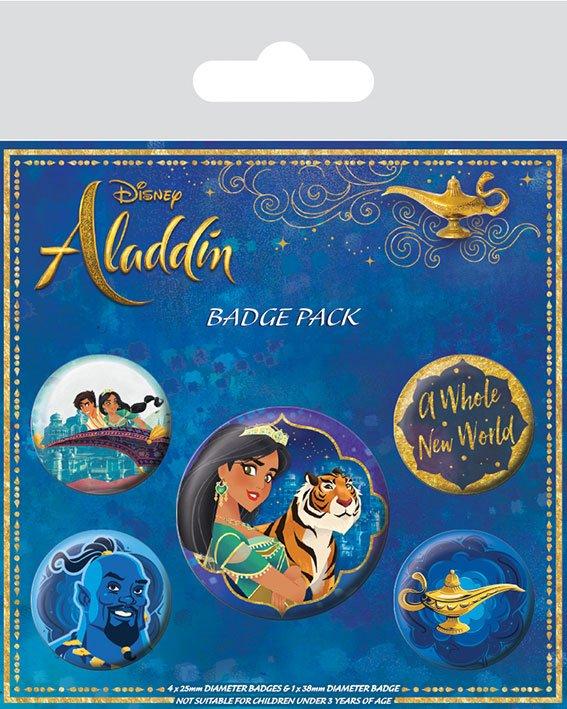 Conjunto de 5 Pins Aladdin A Whole New World