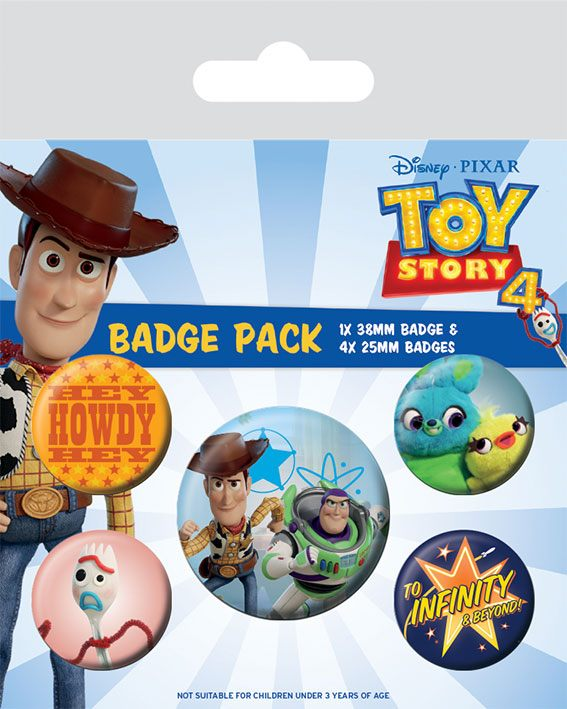 Conjunto de 5 Pins Toy Story 4 Friends for Life