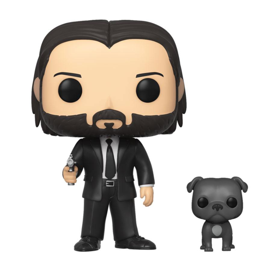 John Wick POP! Movies Vinyl Figure John Wick in Black Suit with Dog 10 cm