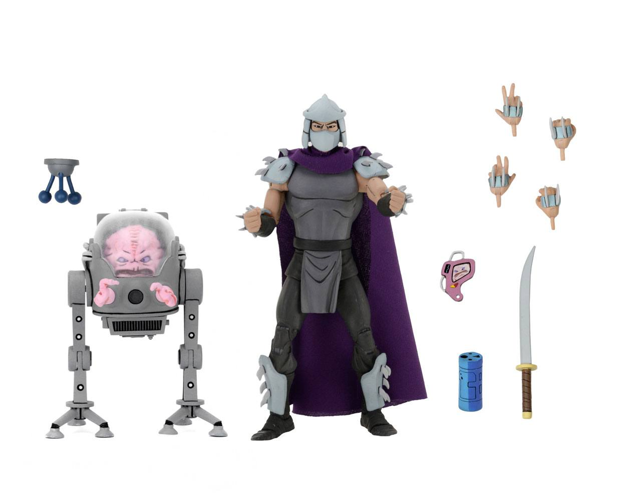 Teenage Mutant Ninja Turtles AF 2-Pack Shredder vs Krang in Bubble Walker
