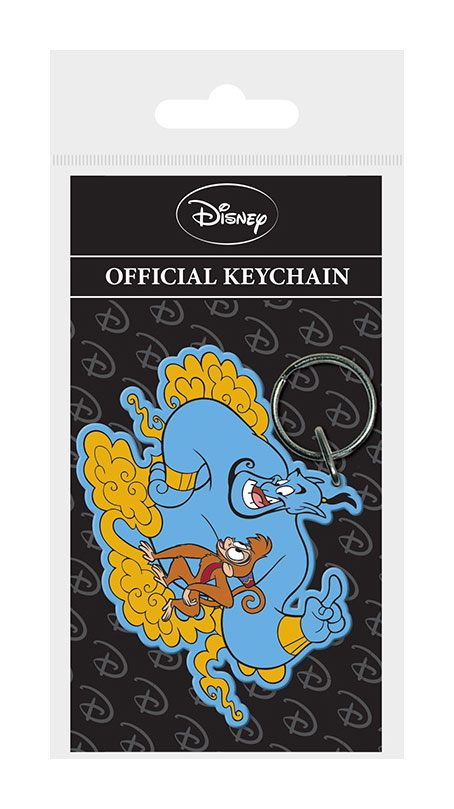 Porta-Chaves/Keychain Aladdin Rubber Genie & Abu 6 cm