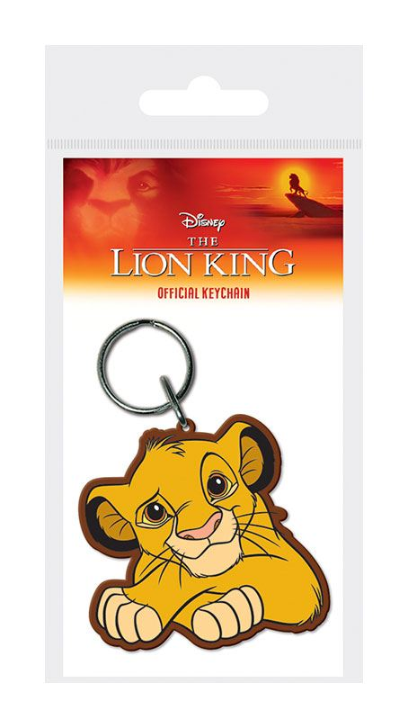 Porta-Chaves/Keychain The Lion King Rubber Simba 6 cm