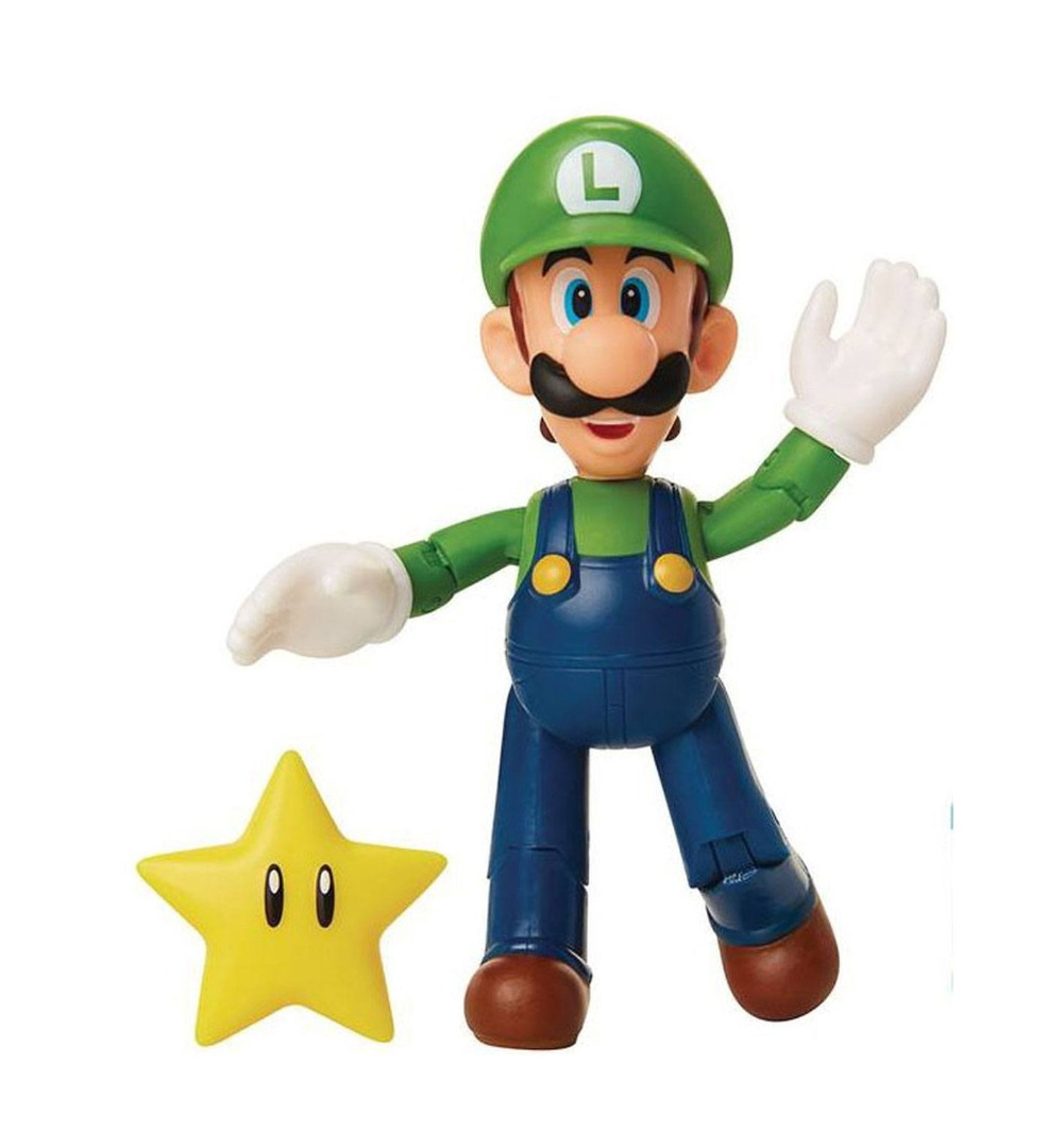 World of Nintendo Action Figure Luigi with Super Star 10 cm