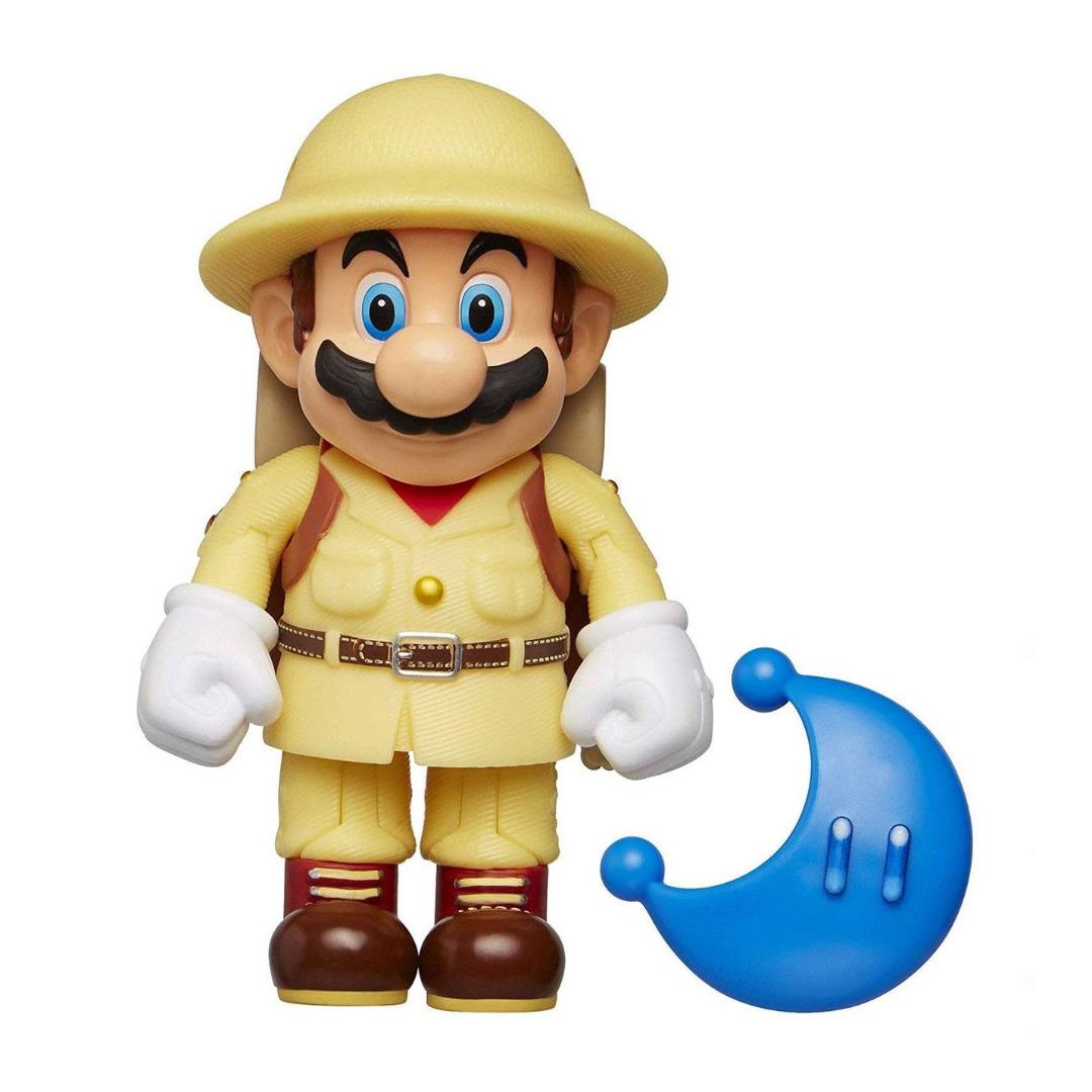 World of Nintendo Action Fg. Wave 15 Odyssey Explorer Mario with Moon 10 cm