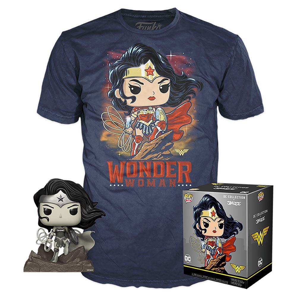 DC Jim Lee POP! & Tee Box Wonder Woman Exclusive Tamanho L