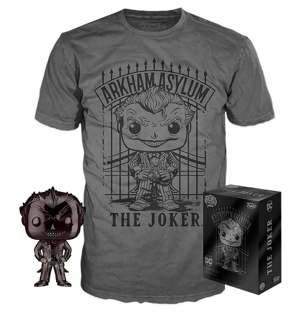 DC Comics POP! & Tee Box The Joker Exclusive Tamanho L