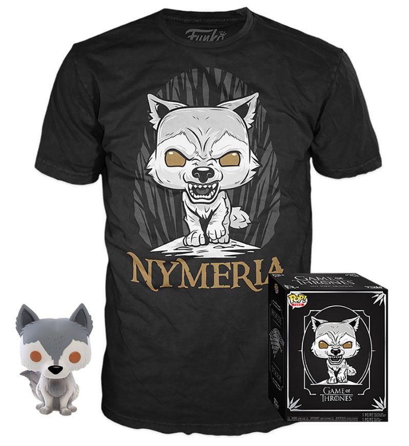 Game of Thrones POP! & Tee Box Nymeria Exclusive Tamanho L