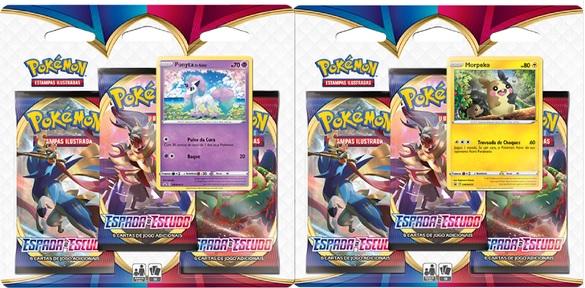 Pokémon Espada & Escudo Blister (3 Boosters+Carta Metalizada) Em Português