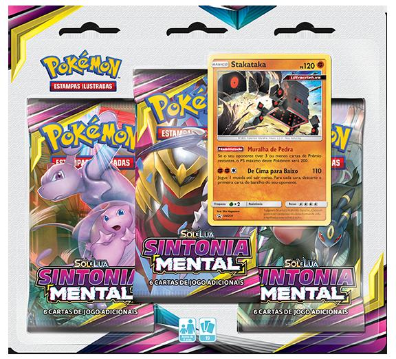 Pokémon Sun and Moon- Sintonia Mental Blister 3 Boosters+Carta Holográfica