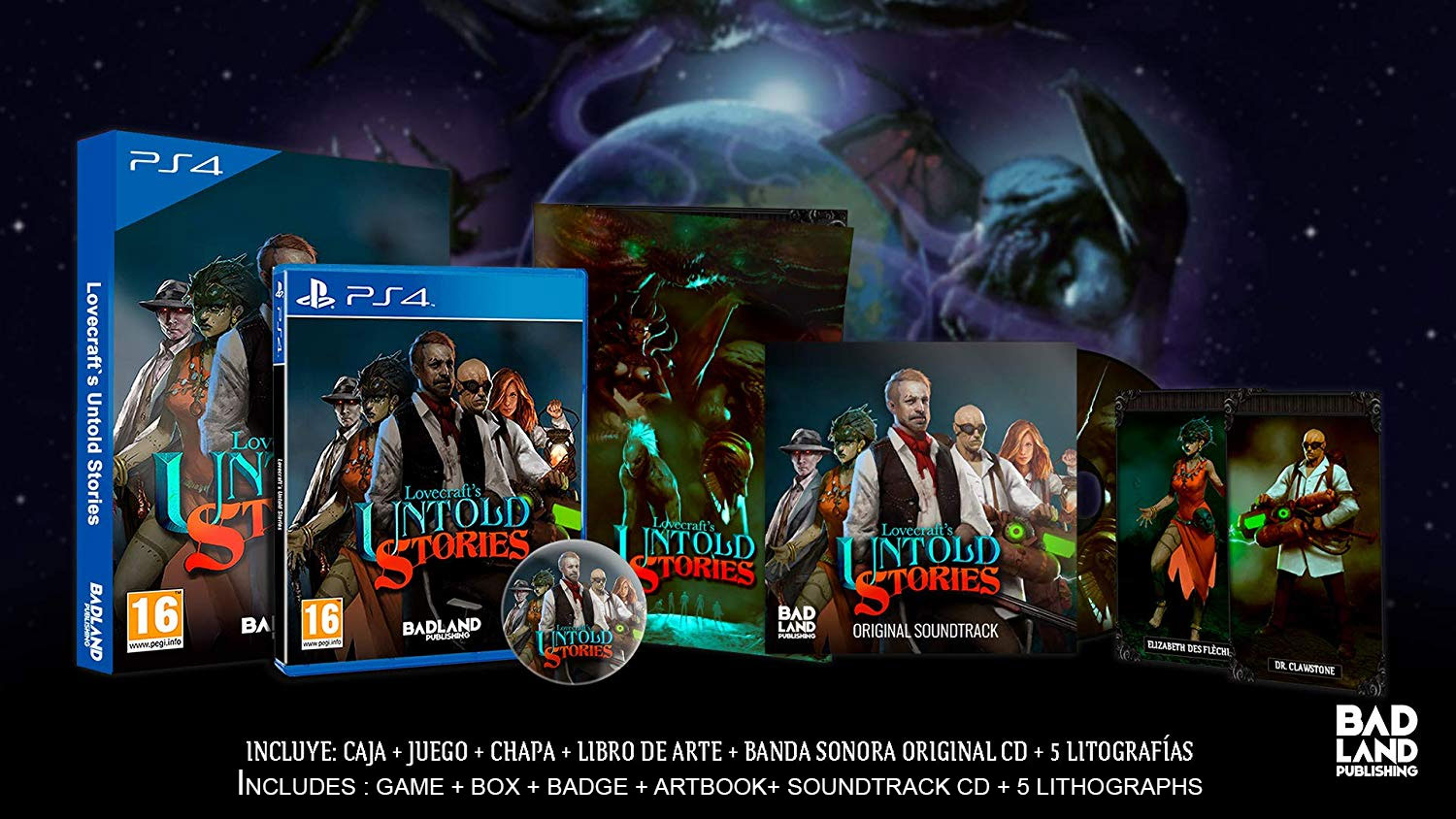 Lovecraft's Untold Stories Collector's Edition PS4 (Novo)