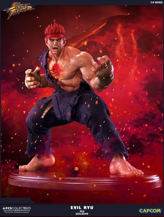 Street Fighter IV: Evil Ryu 'Murderous Intent' Exclusive 1:4 Statue 42 cm