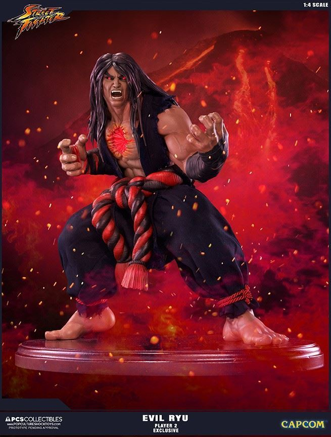 Street Fighter IV: Evil Ryu 'Dark Hado' Exclusive 1:4 Statue 42 cm