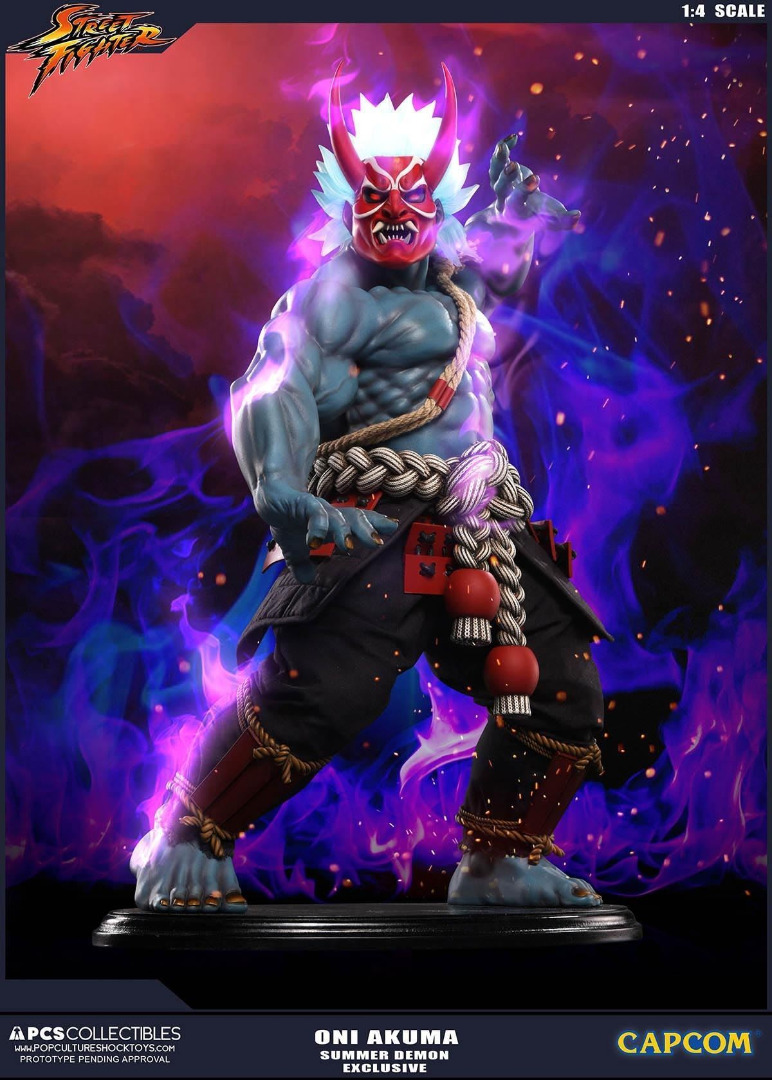 Street Fighter: Oni Akuma 1:4 Summer Demon Exclusive Statue 46 cm