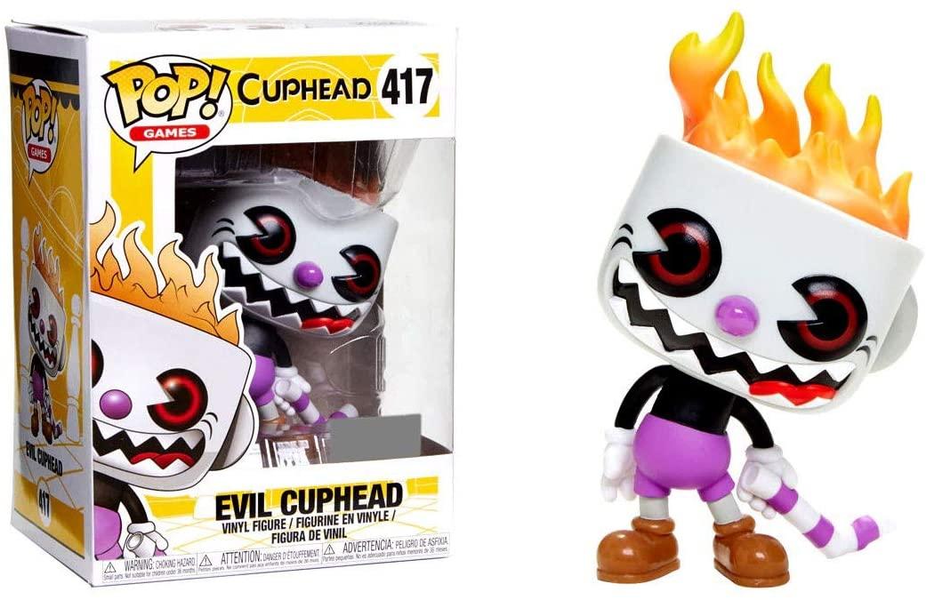 Pop! Games Cuphead - Evil Cuphead Exclusive Edition Vinyl Figure 10 cm