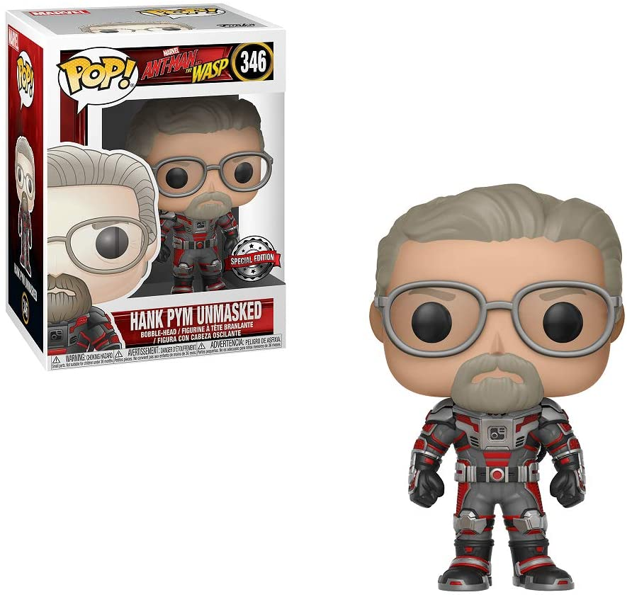 Marvel POP! Vinyl Figure Ant-Man & Wasp Hank Pym Unmasked Exclusive Edition